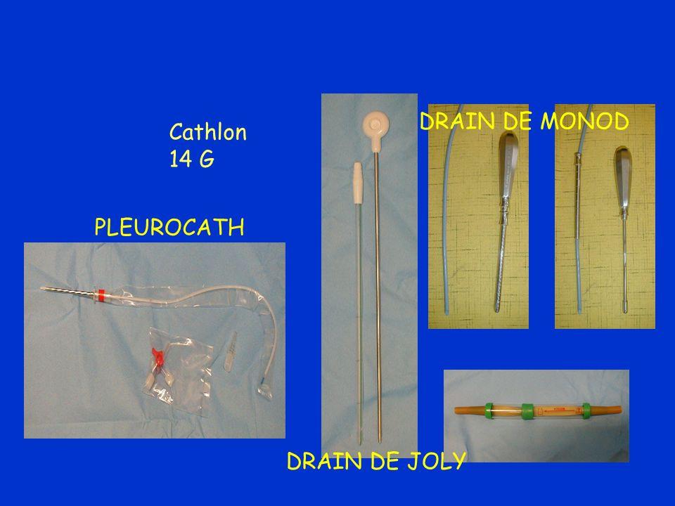 DRAIN DE MONOD Cathlon 14 G PLEUROCATH DRAIN DE JOLY