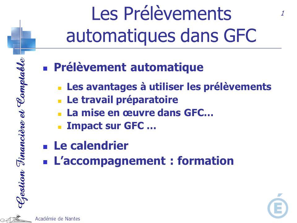 Les Prélèvements automatiques dans GFC