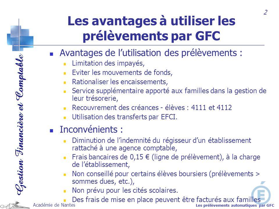 Les avantages à utiliser les prélèvements par GFC