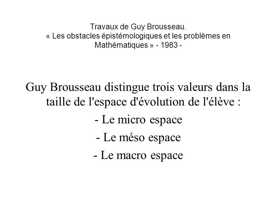 Travaux de Guy Brousseau