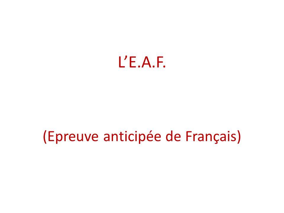(Epreuve anticipée de Français)