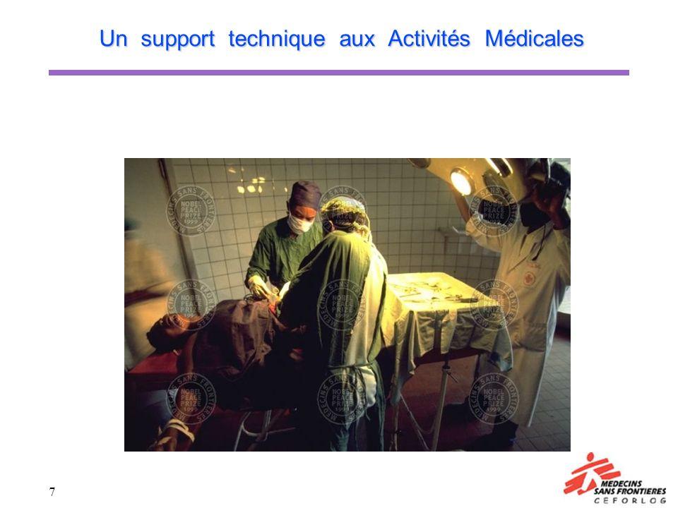Un support technique aux Activités Médicales
