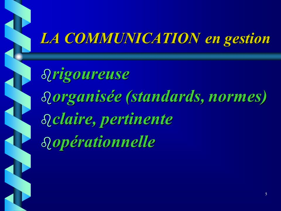 LA COMMUNICATION en gestion