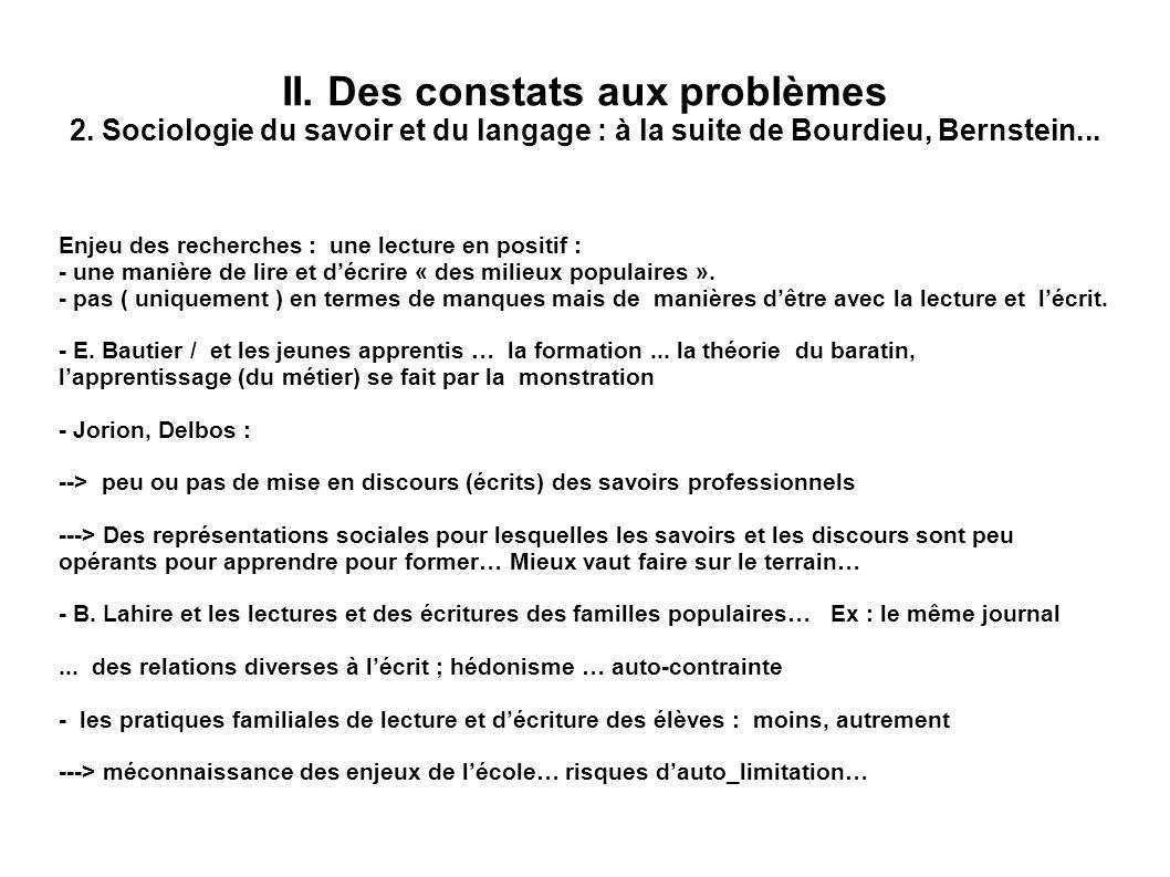 II. Des constats aux problèmes 2