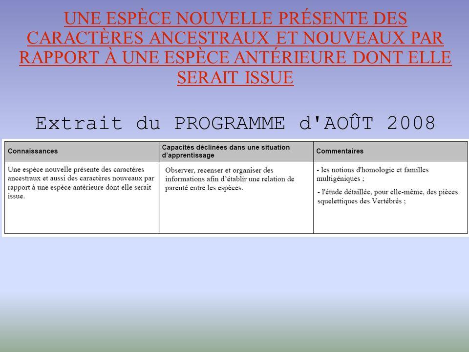 Extrait du PROGRAMME d AOÛT 2008