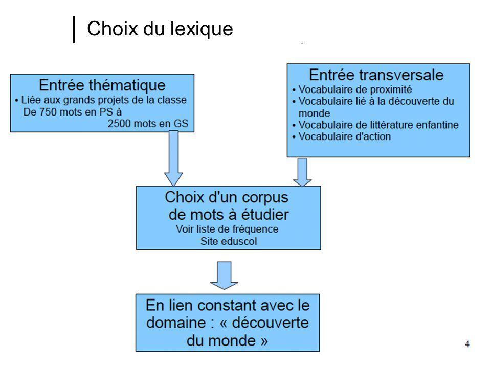Choix du lexique
