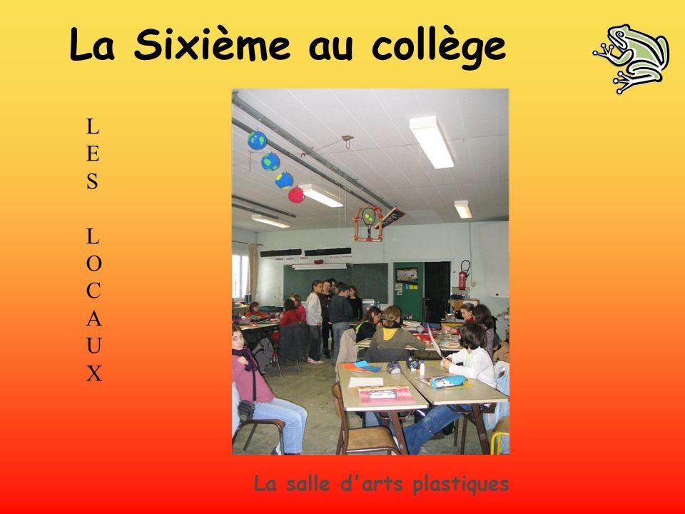 La Sixième au collège LES L O C A U X La salle d arts plastiques