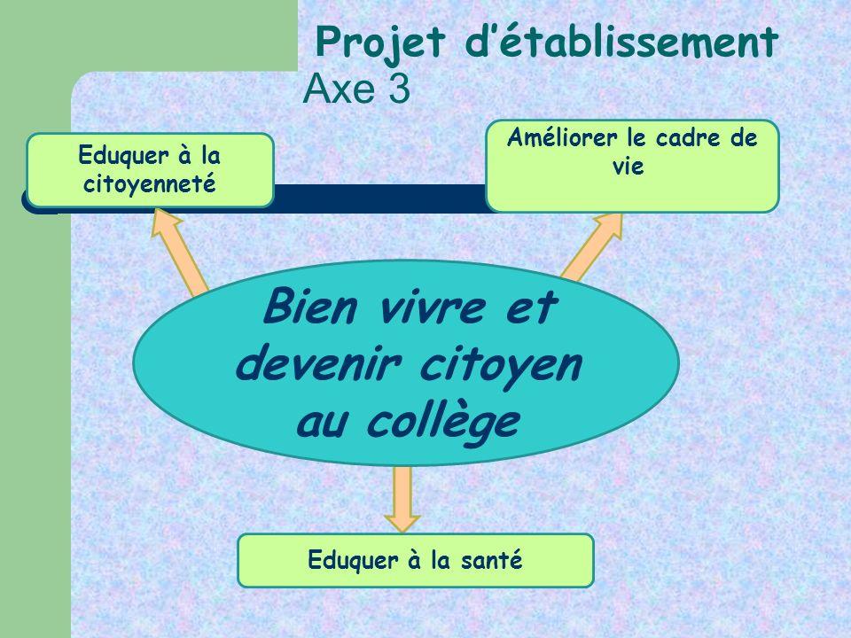 Projet d'établissement Axe 3