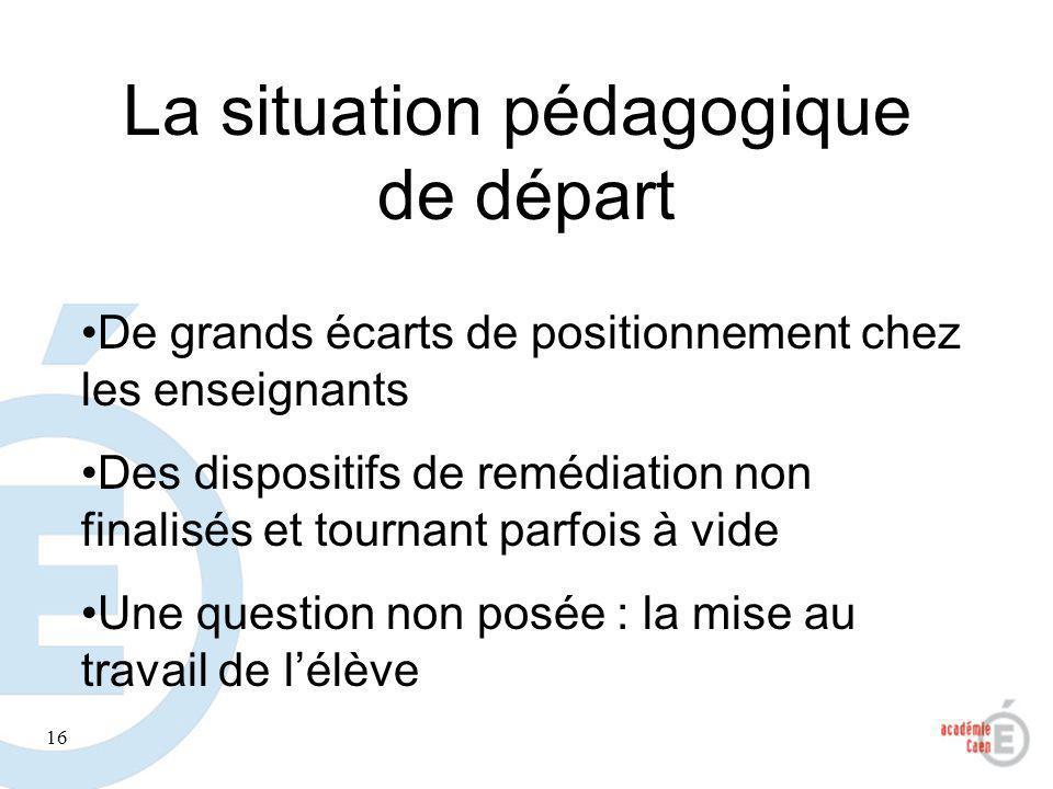 La situation pédagogique