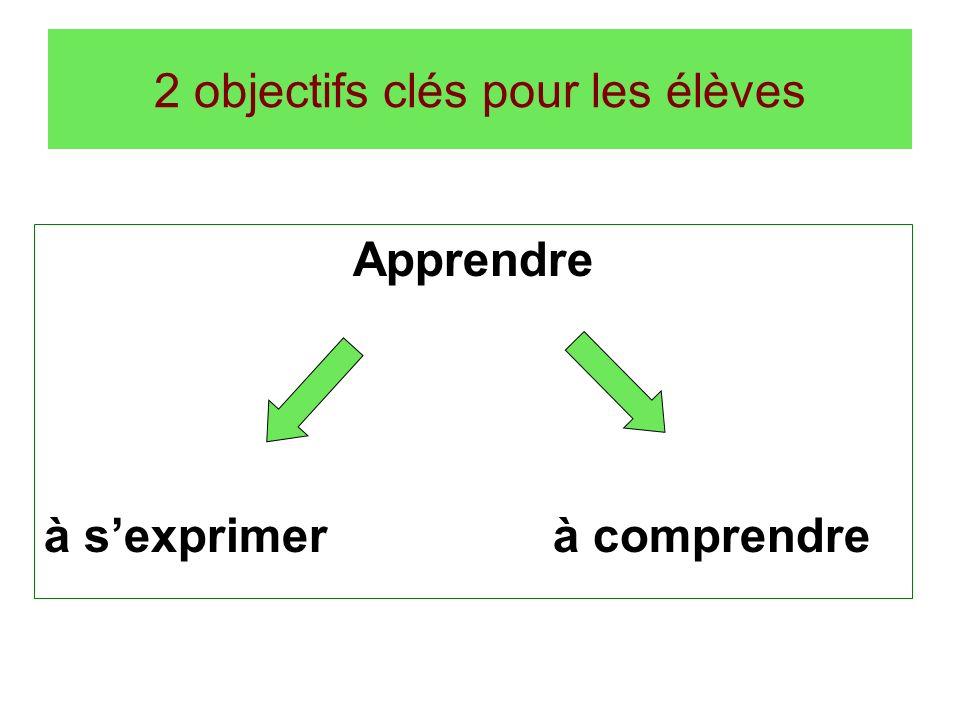 2 objectifs clés pour les élèves