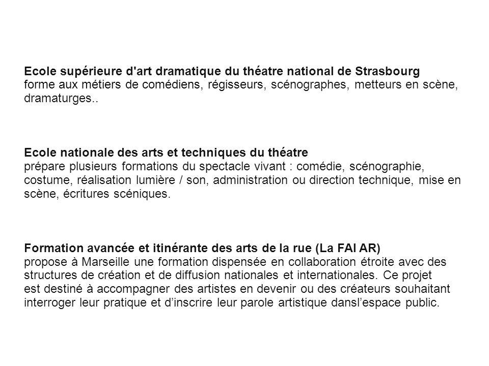 Ecole supérieure d art dramatique du théatre national de Strasbourg