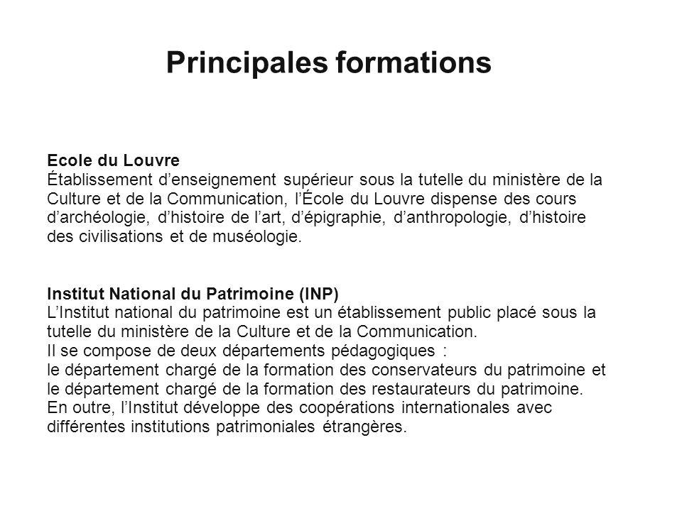 Principales formations