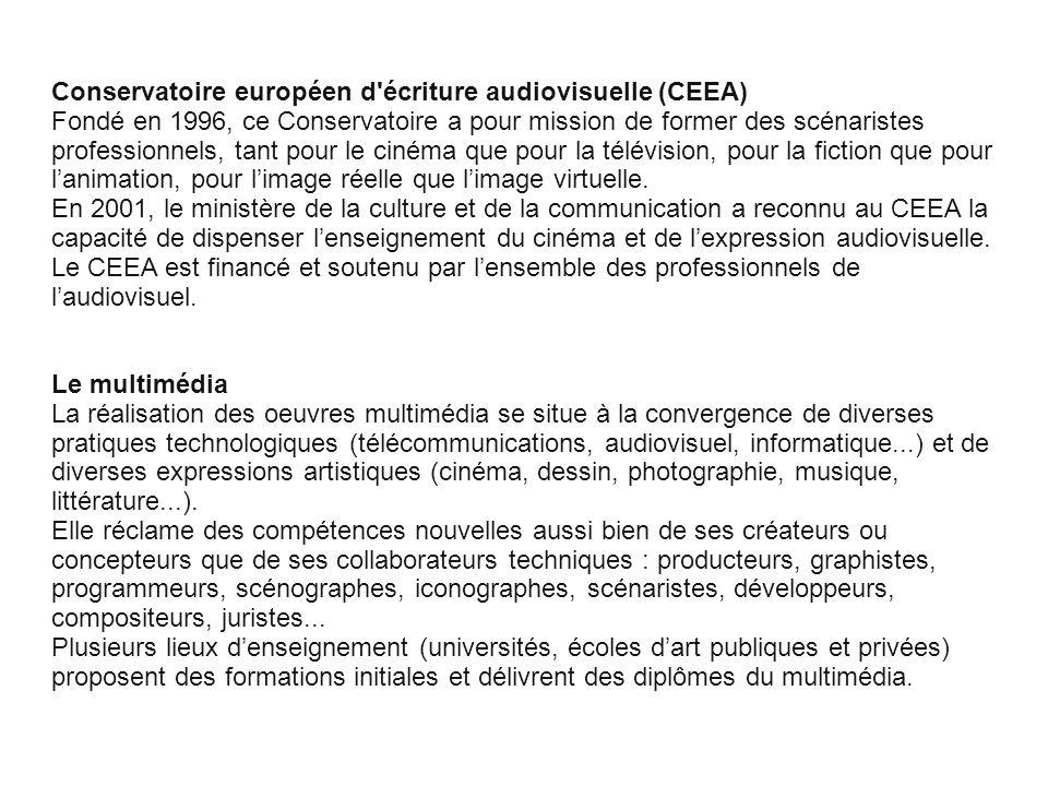 Conservatoire européen d écriture audiovisuelle (CEEA)