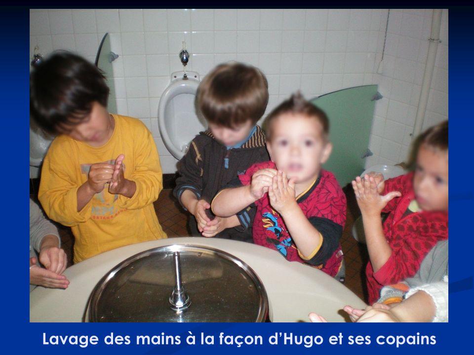 Lavage des mains à la façon d'Hugo et ses copains
