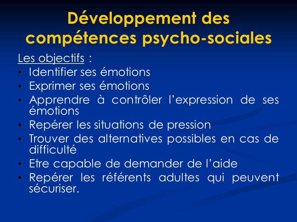 Développement des compétences psycho-sociales