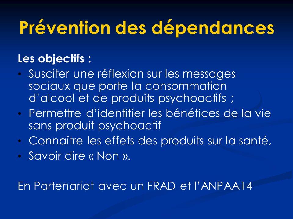 Prévention des dépendances