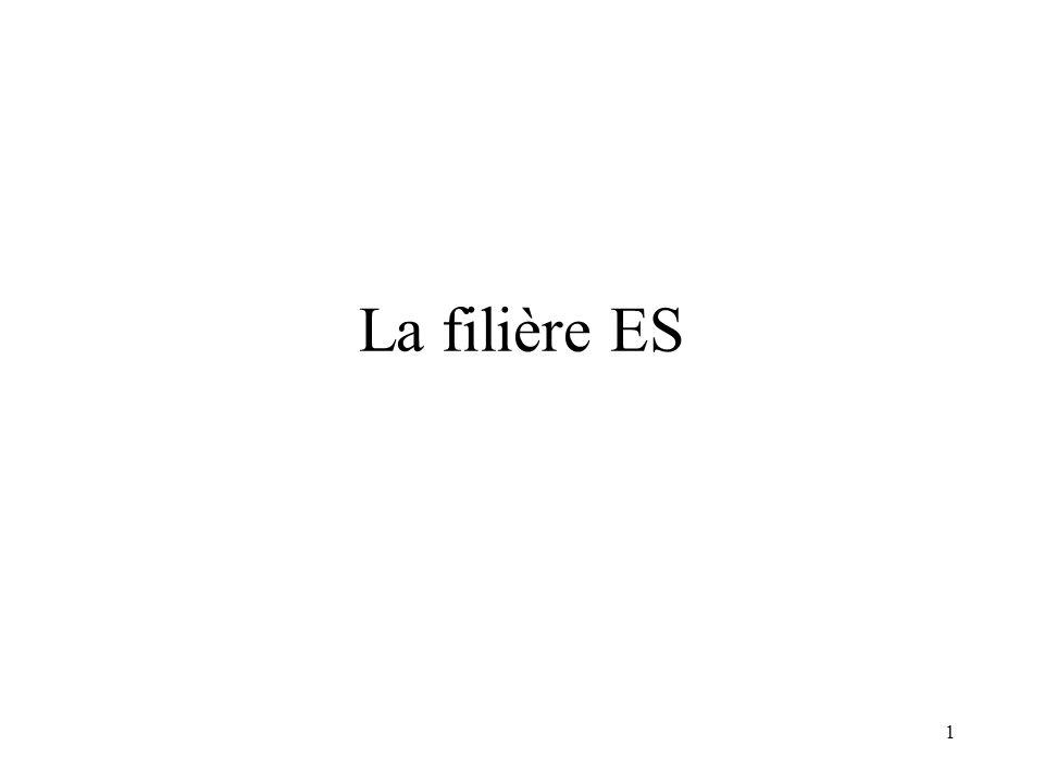 La filière ES
