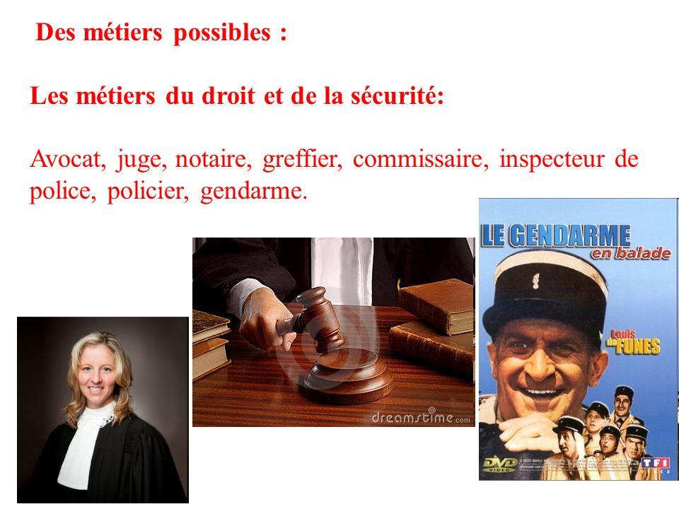 Les métiers du droit et de la sécurité: