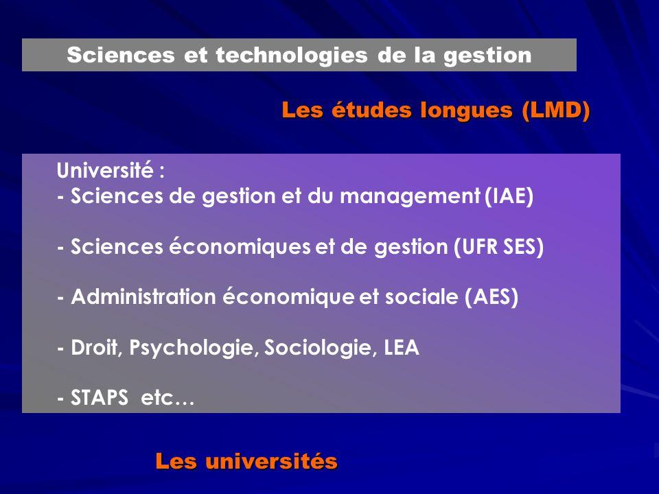 Les études longues (LMD)