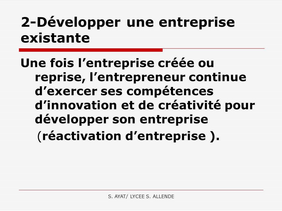 2-Développer une entreprise existante