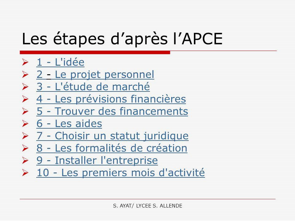 Les étapes d'après l'APCE