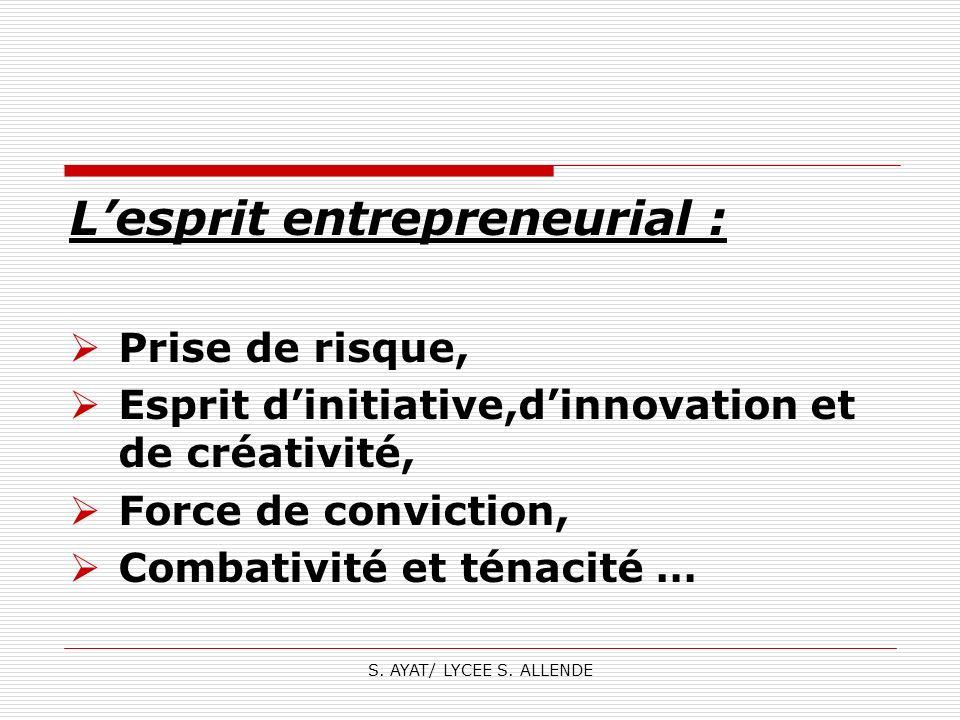 L'esprit entrepreneurial :