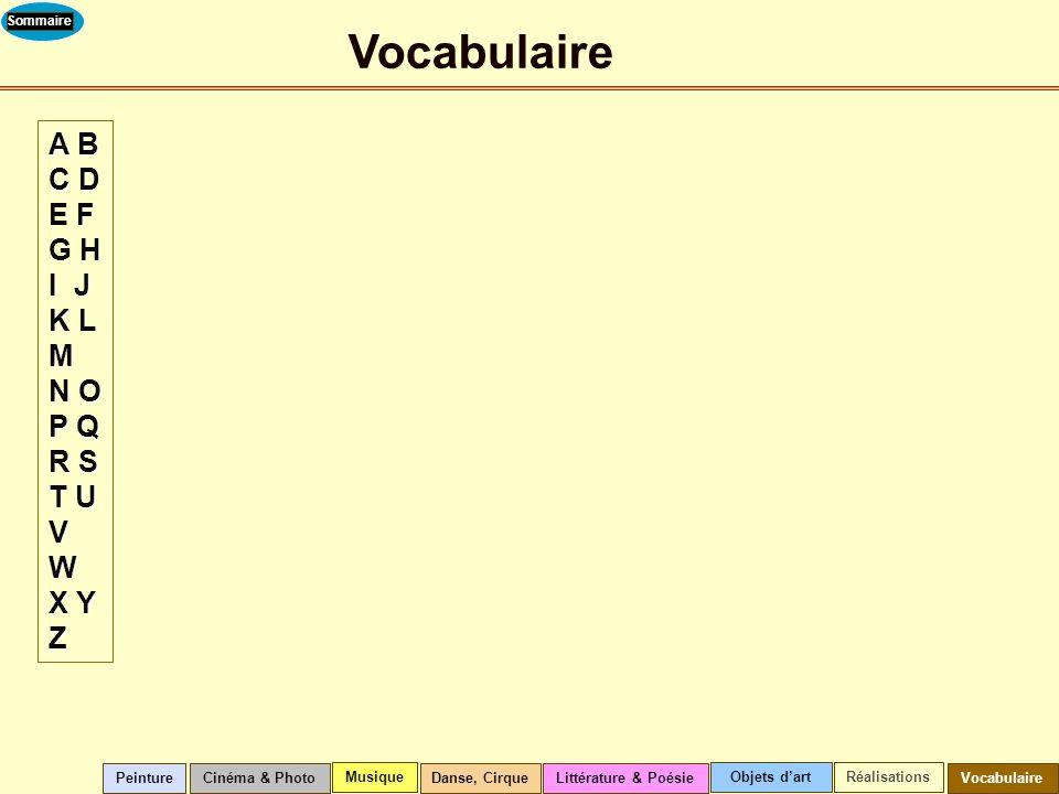 Vocabulaire A B C D E F G H I J K L M N O P Q R S T U V W X Y Z