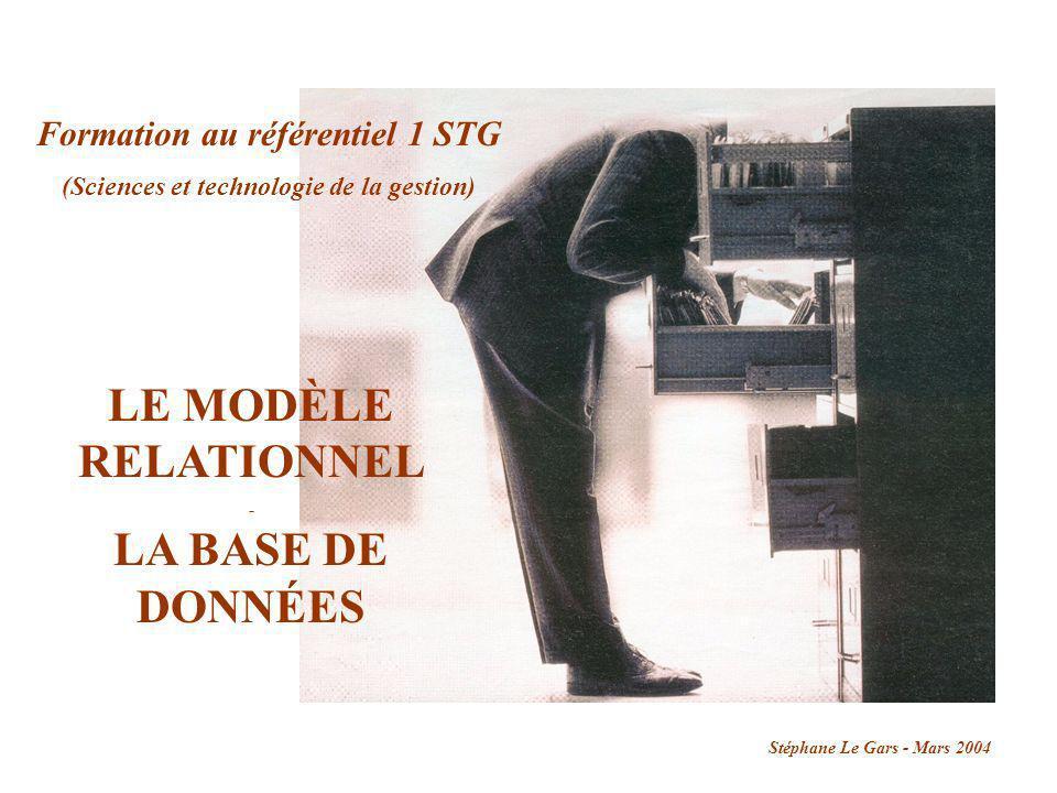 Formation au référentiel 1 STG (Sciences et technologie de la gestion)