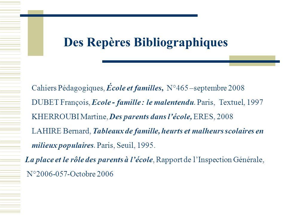 Des Repères Bibliographiques