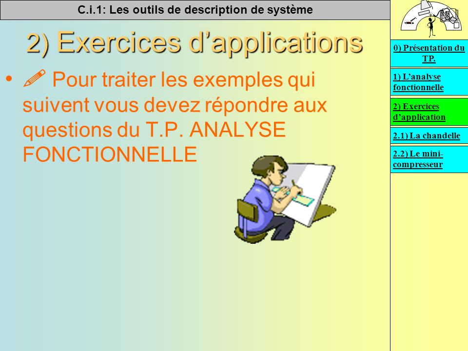 2) Exercices d'applications