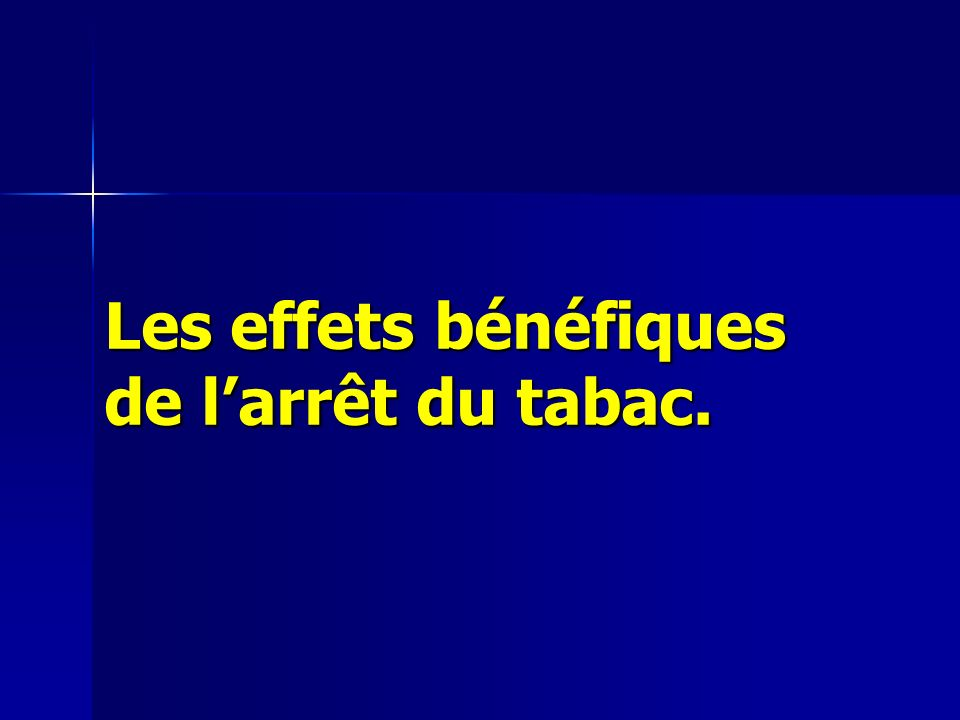 Les effets bénéfiques de l'arrêt du tabac.