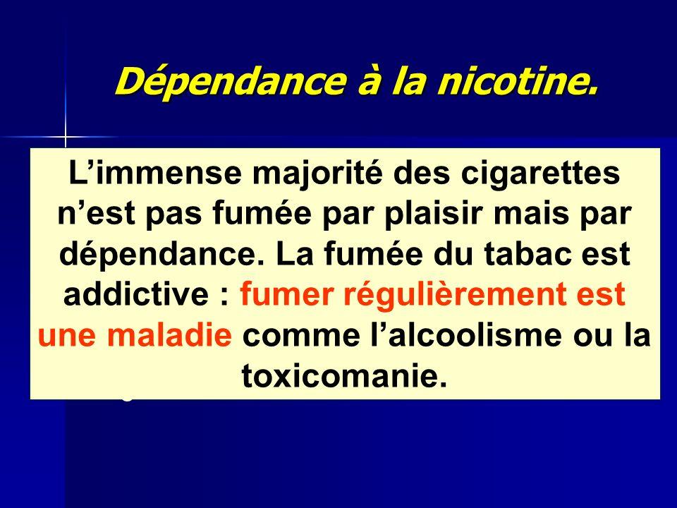 Dépendance à la nicotine.