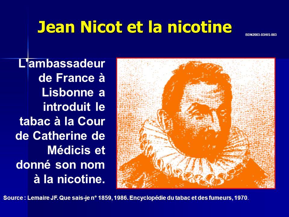 Jean Nicot et la nicotine