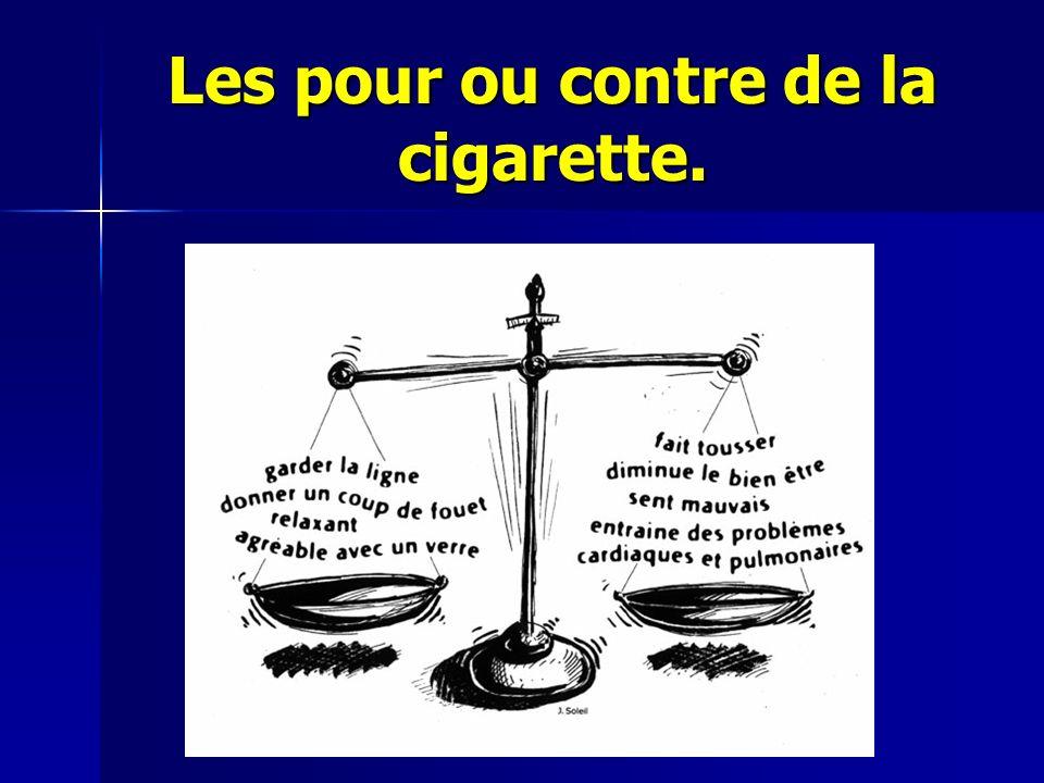 Les pour ou contre de la cigarette.