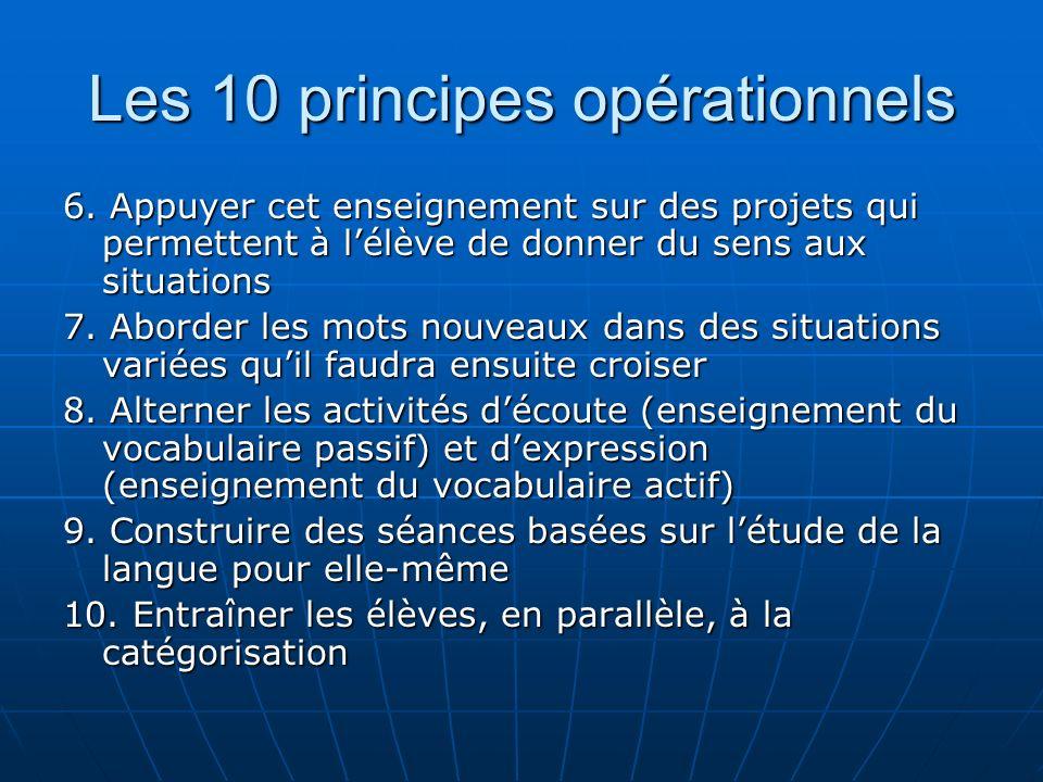 Les 10 principes opérationnels