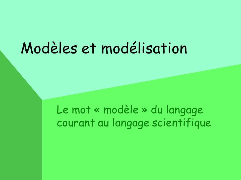 Modèles et modélisation