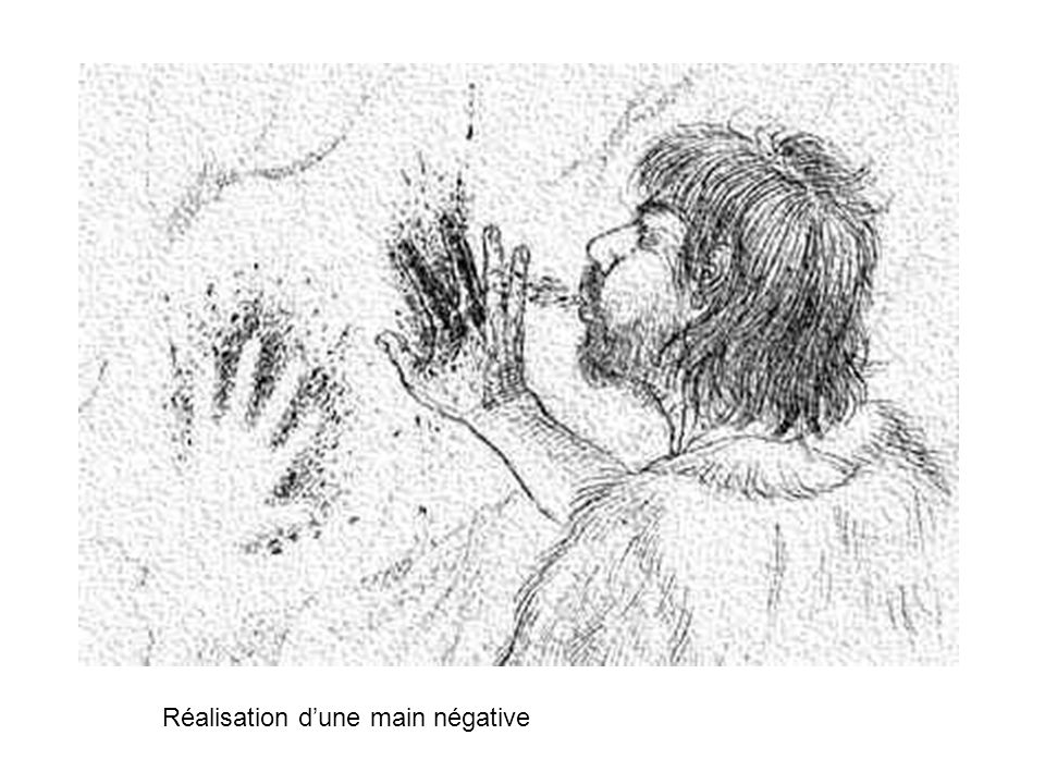 Réalisation d'une main négative