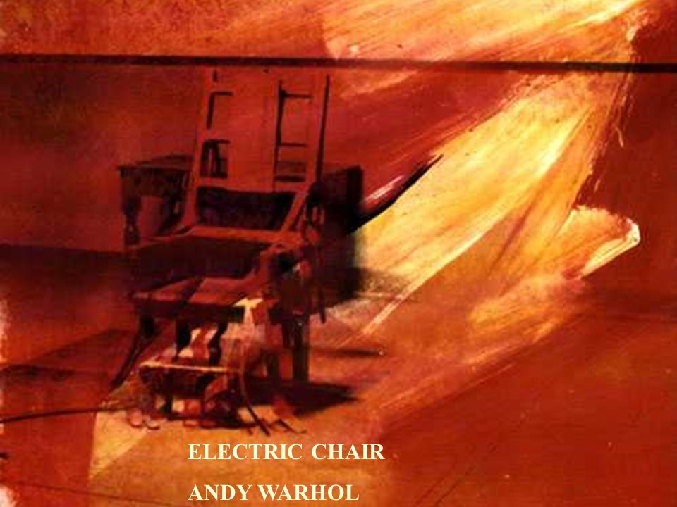 ELECTRIC CHAIR ANDY WARHOL