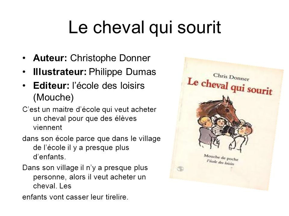 Le cheval qui sourit Auteur: Christophe Donner