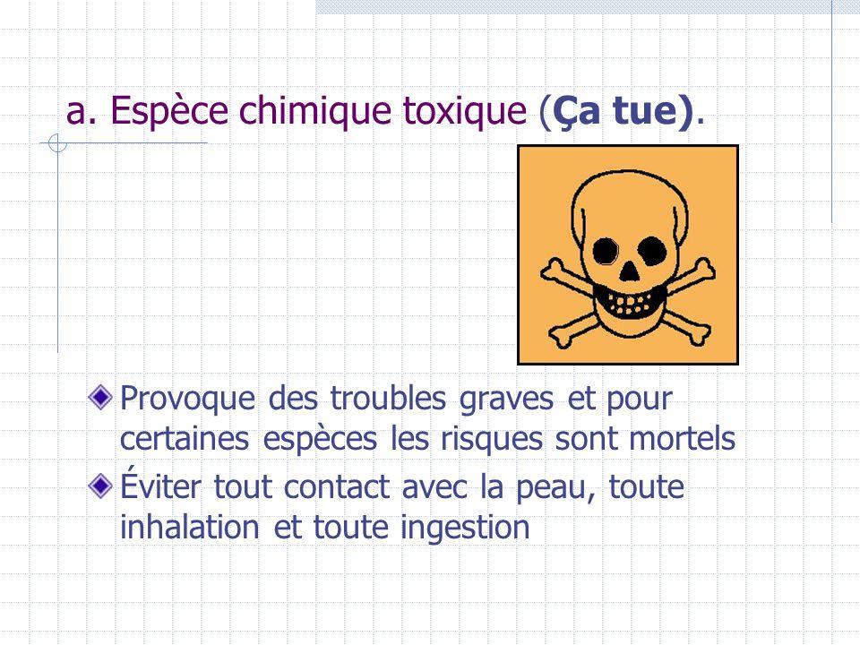 a. Espèce chimique toxique (Ça tue).