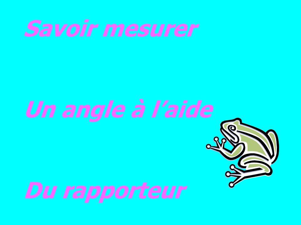 Savoir mesurer Un angle à l'aide Du rapporteur