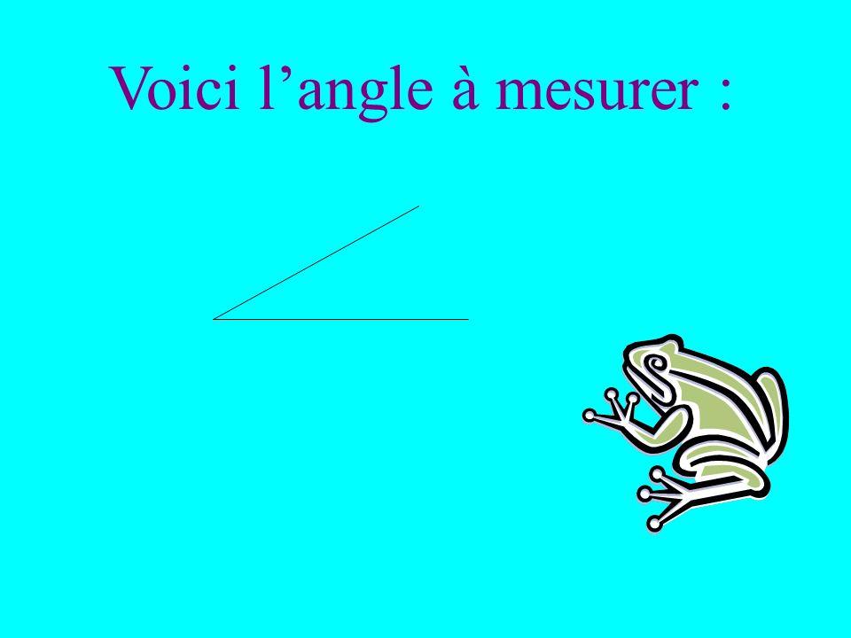Voici l'angle à mesurer :