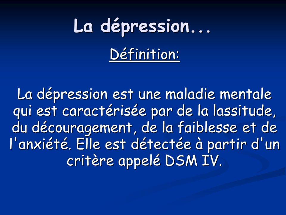 La dépression... Définition: