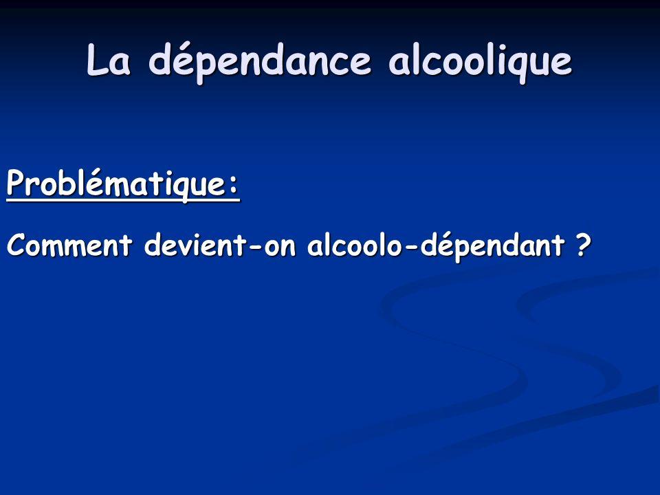 La dépendance alcoolique