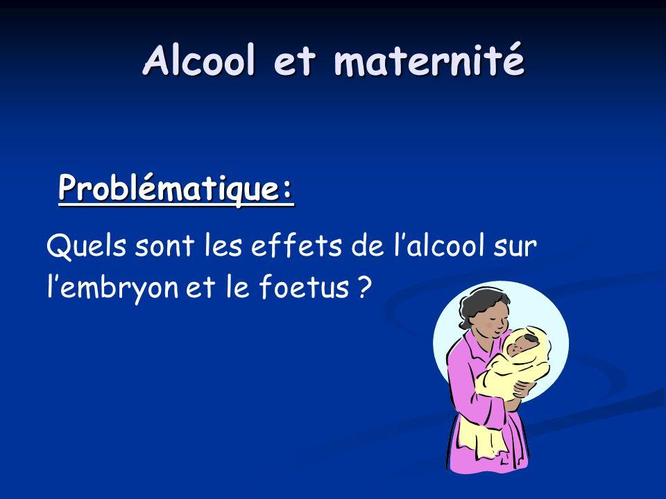 Alcool et maternité Problématique: