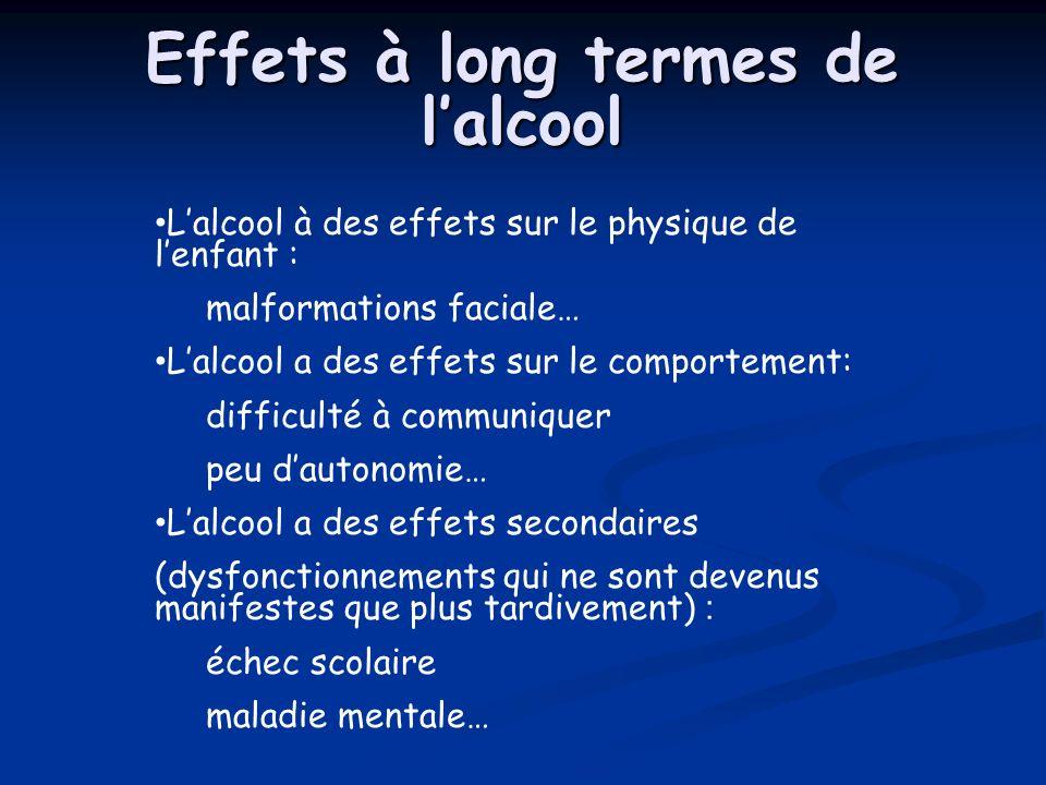 Effets à long termes de l'alcool