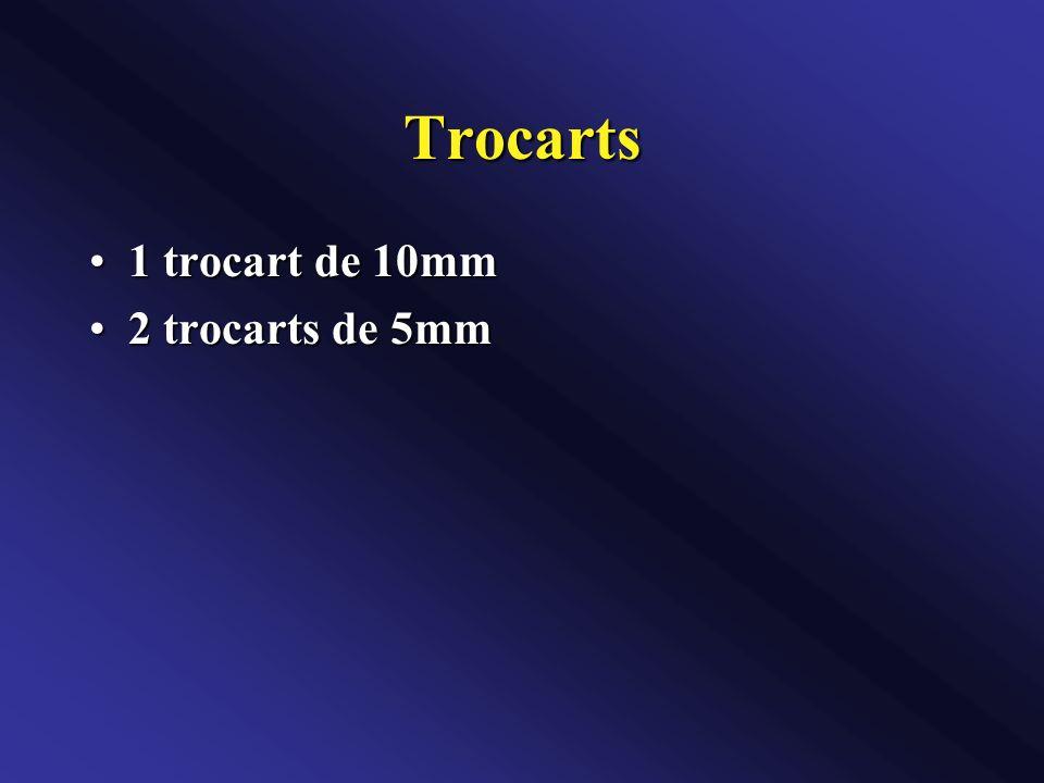Trocarts 1 trocart de 10mm 2 trocarts de 5mm