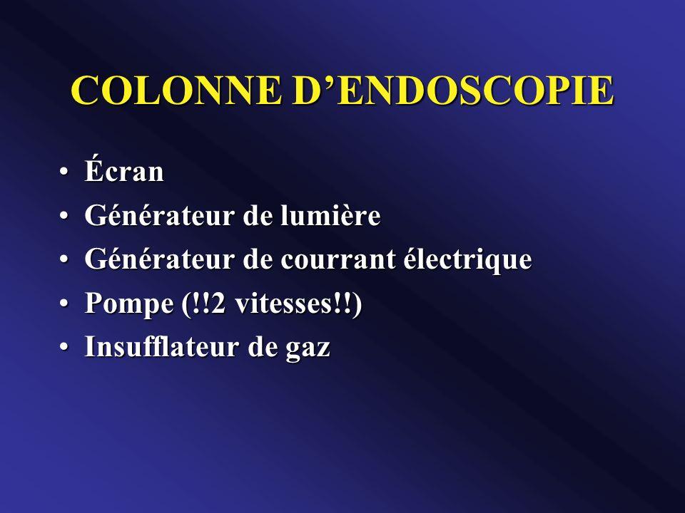 COLONNE D'ENDOSCOPIE Écran Générateur de lumière