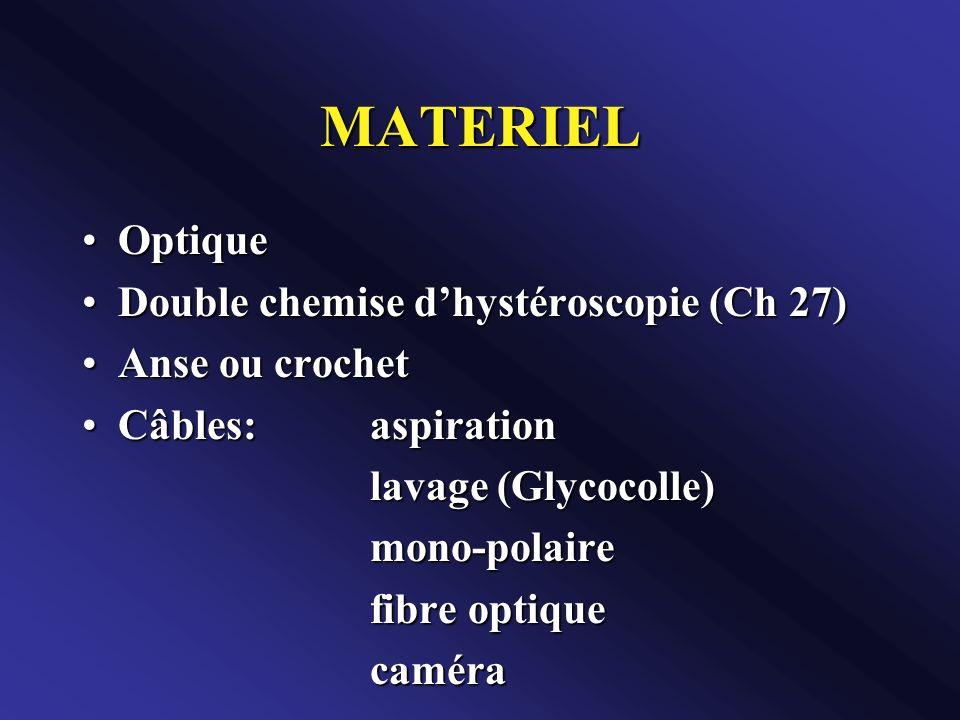 MATERIEL Optique Double chemise d'hystéroscopie (Ch 27)