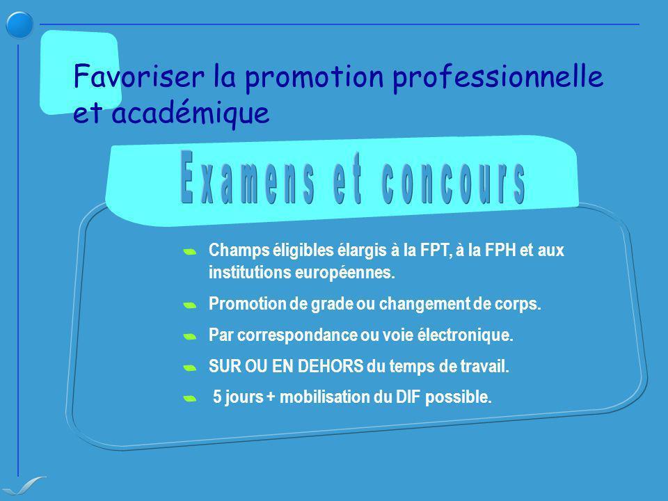Favoriser la promotion professionnelle et académique